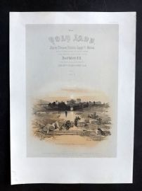 David Roberts Holy Land 4to 1856 Print. Baalbec from the Fountain. Title Page